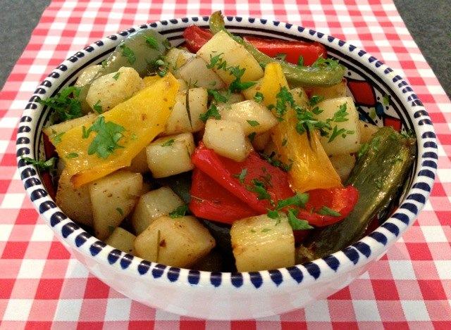 Aardappelen met paprika