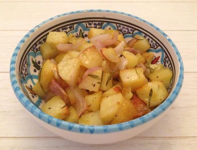 Aardappelen met sjalot en rozemarijn