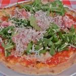 Pizza met Parmaham