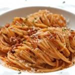Spaghetti met Gorgonzola en worst