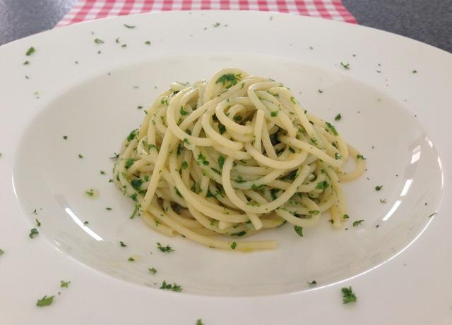 Spaghetti met knoflook