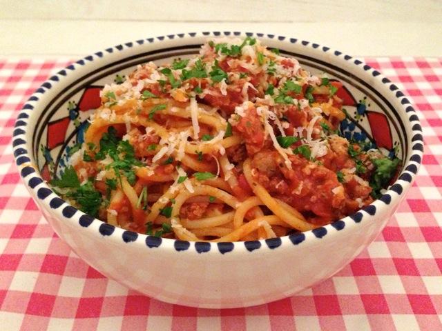 Spaghetti met tomatensaus