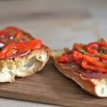 Bruschetta met paprika