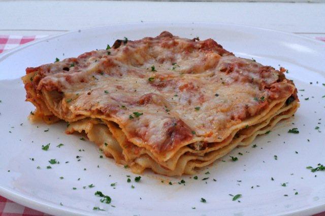 Lasagne met aubergine