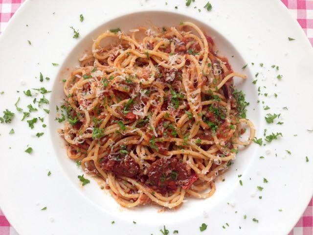 Pittige spaghetti