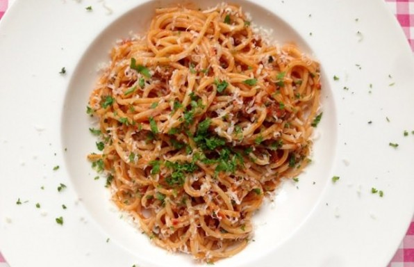 spaghettisaus recept 4 personen