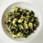 Gnocchi met spinazie en pancetta