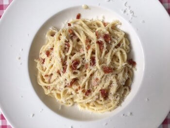 Spaghetti met witte asperges