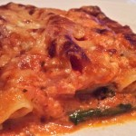 Canneloni met spinazie
