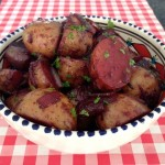 Aardappelen met rode wijn