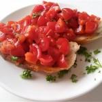 Bruschetta tomaat basilicum