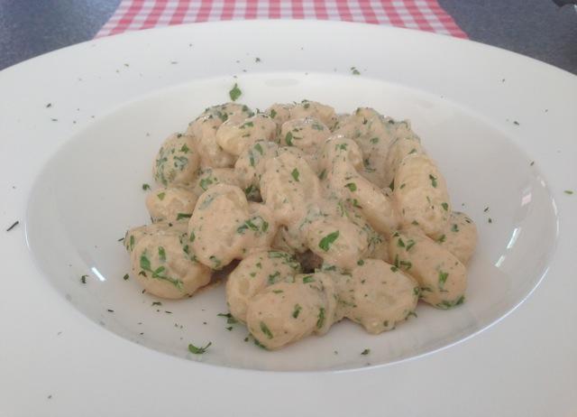 Gnocchi met gorgonzola