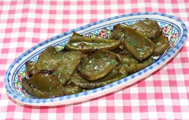 Groene paprika uit de oven