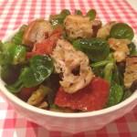 Italiaanse salade met croutons