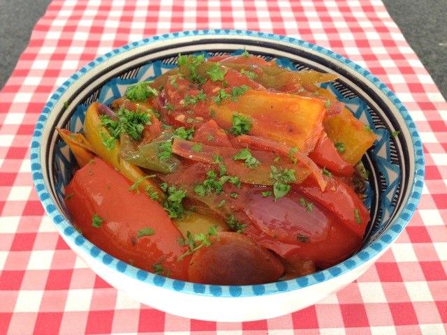 Paprika met tomatensaus