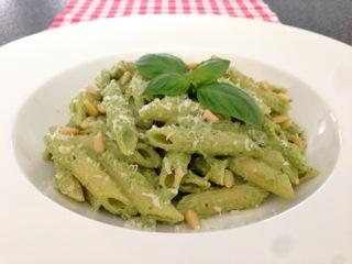 Pasta met courgette pesto