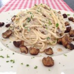 Spaghetti champignons