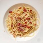 Spaghetti met pancetta