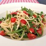 Spaghetti rucola tomaat