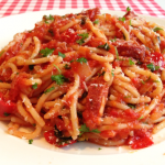 Spaghetti salami