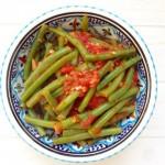 Sperziebonen met tomaat