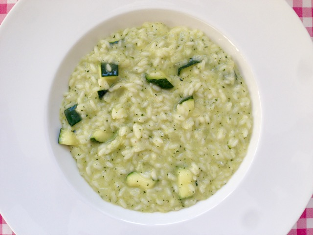 Risotto met courgette