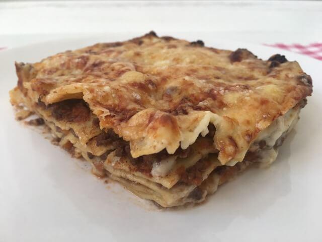 Echte lasagne bolognese met bechamelsaus