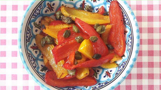 Paprika met kappertjes