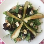 Salade met peer, walnoot en Gorgonzola