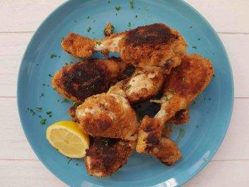 Gepaneerde kip uit de oven