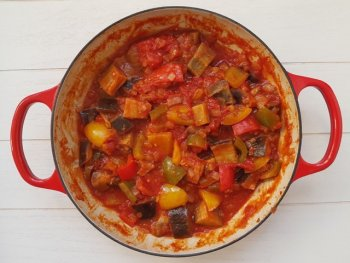Gesmoorde paprika uit Veneto