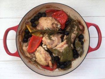 Kip met paprika uit de oven